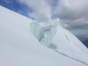 Cravasses on Mont Blanc Tacul