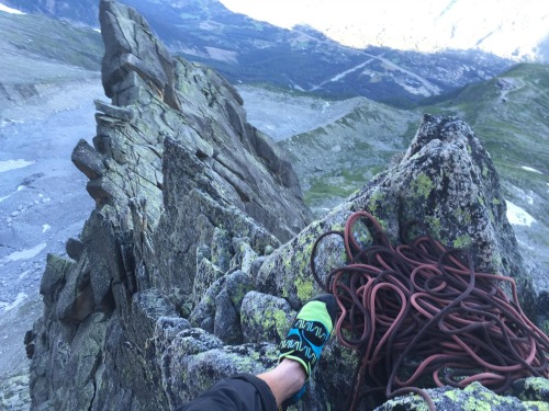 Rope work on Aig. Peigne